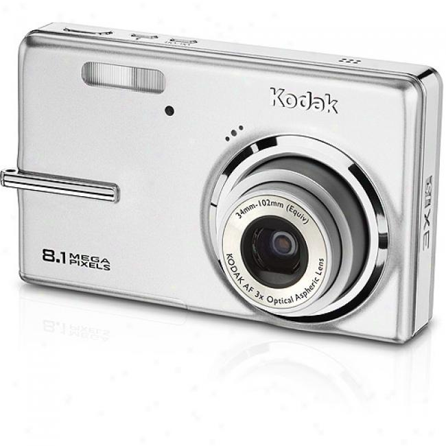 Kodak Easyshare M893-is Silver 8.2 Mp Digital Camera W/ 3x Opgical Zoom & Face Detection