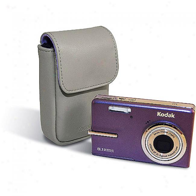 Kodak Easyshare M893 Purple ~ 8.1mp Diital Camera W/ 3x Optical Zoom, **includes Bonus Case**