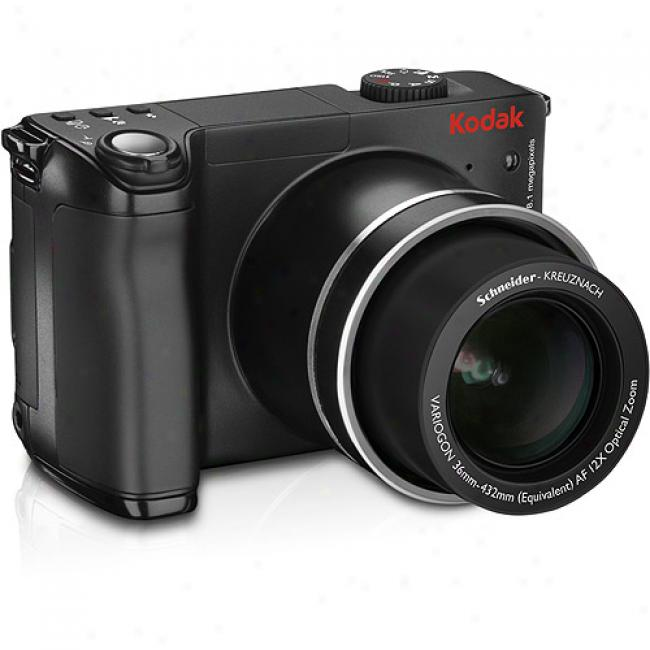 Kodak Easyshare Z8612-is Black ~ 8.1 Mp Digital Camera W/ 12x Optical Zoom & Image Stabilizer