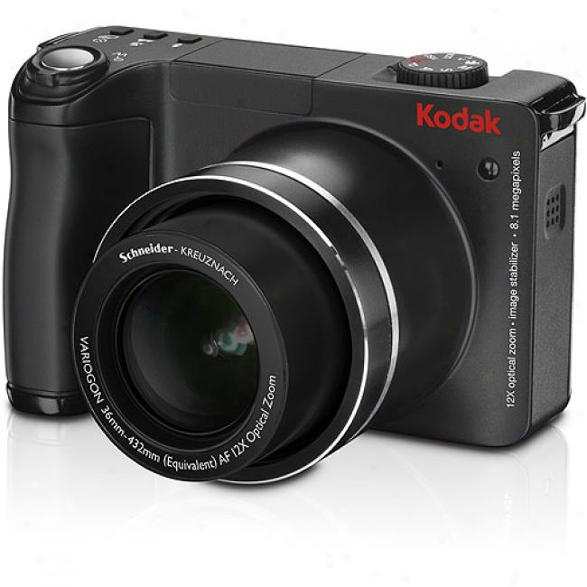 Kodak Easyshare Zd8612 Black ~8mp Digital Camera W/ 12x Optical Zoom, 2.5