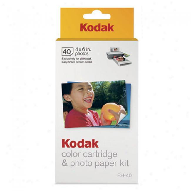 Kodak Ph-40 Easyshare Printer Dock Photo Paper Refill Kit