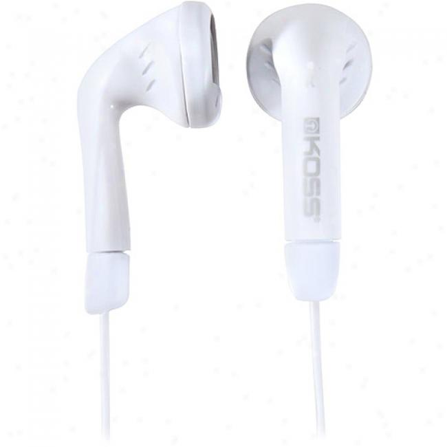 Kkss Lightweiight Earbuds With Wind-up Case - White