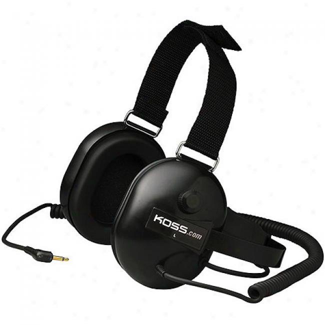 Koss Quietzone Passive Talk Reduction Headphones With Velcro Head Strap