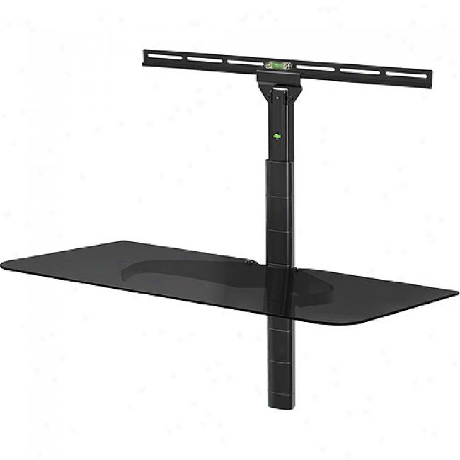 Level Mount Adjustable Glass Component Shelf