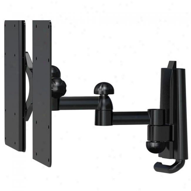 Level Mount Dual-arm, Full-motion Plus Mount Against Flat-panel Tvs Up To 32''