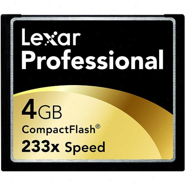 Lexar 4gb Pro 233x Compactflash Memory Card