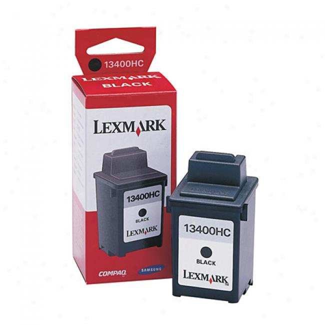Lexmark 13400hc Waterproof Black Ink Cartridge