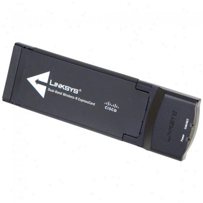 Linksys Wec600n Ultra aRngeplus Wireles-n Expresscard Network Adapter