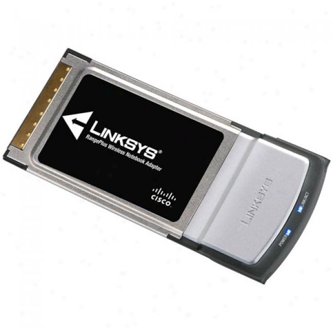 Linksys Wireless iMmo Rangepius Notebook Pc Card, Wpc100