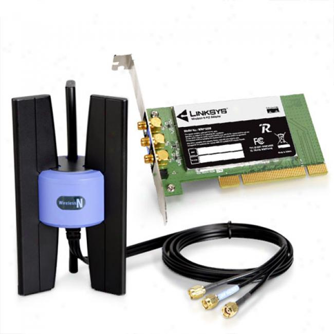Linksys Wmp300n Wireless-n Pci Desktop Adapter