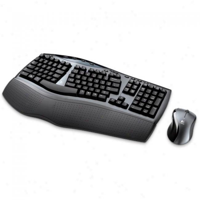 Logitech Cordless Desktop Comfort Laser Keyboard And Mouse, 967692