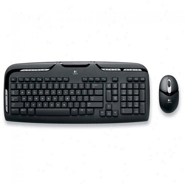 Logitech Cordless Desktop Ex 110 Keyboard And Mouse Combo, 967561
