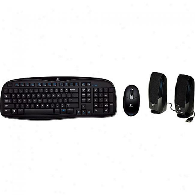 Logitech Cordless Desktop Keyboard & Mouse W/ Speakers