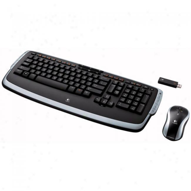 Logitech Cordless Desktop Lx 710 Laser, Black/silver