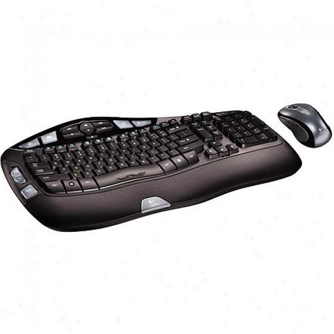 Logitech Cordless Desktop Wave Wireless Keyboard And Mouse