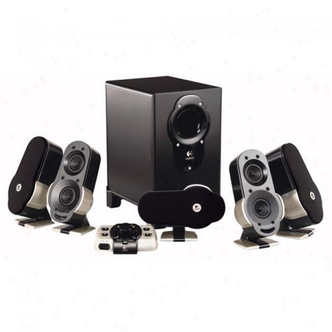 Logitech G51 6-piece Powered Surround Sound Computer/gaming Speaker System