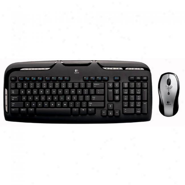Logitech Lx310 Cordless Desktop With Wireless Keyboard & Laser Mouse