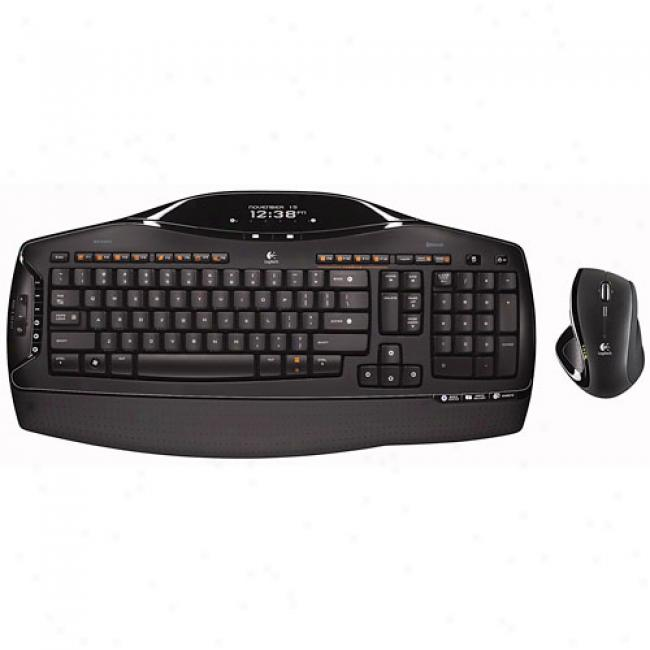 Logitech Mx5500 Cordless Desktop Keyboard And Mouse Revolution