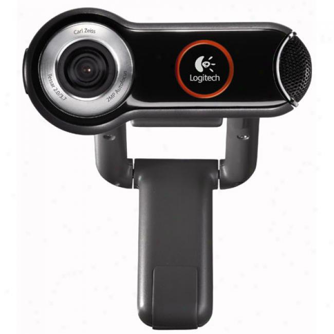 Logitech Quickcam Pro 9000 Pc Usb Wevcam, Fits Notebooks And Desktop Lcd Pc's
