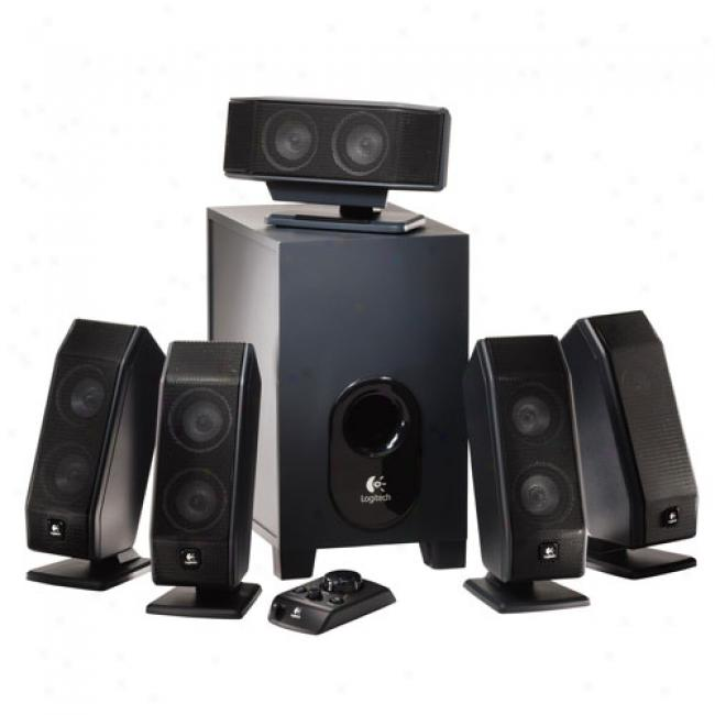 Logitech X-540 Multimedia Speaker System, Black