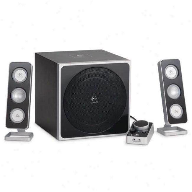 Logitech Z4i 3-piece Powered Pc Speaker System -white