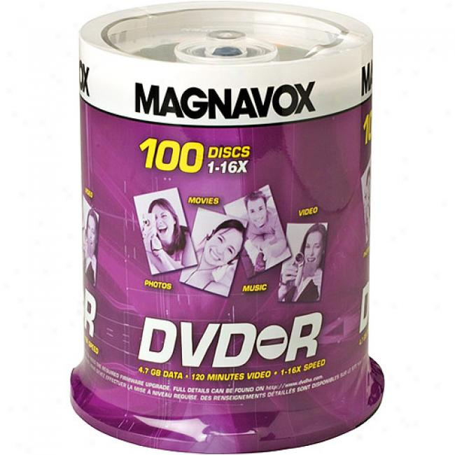 Magnavox 16x Write-once Dvd-r - 100 Disc Sindle