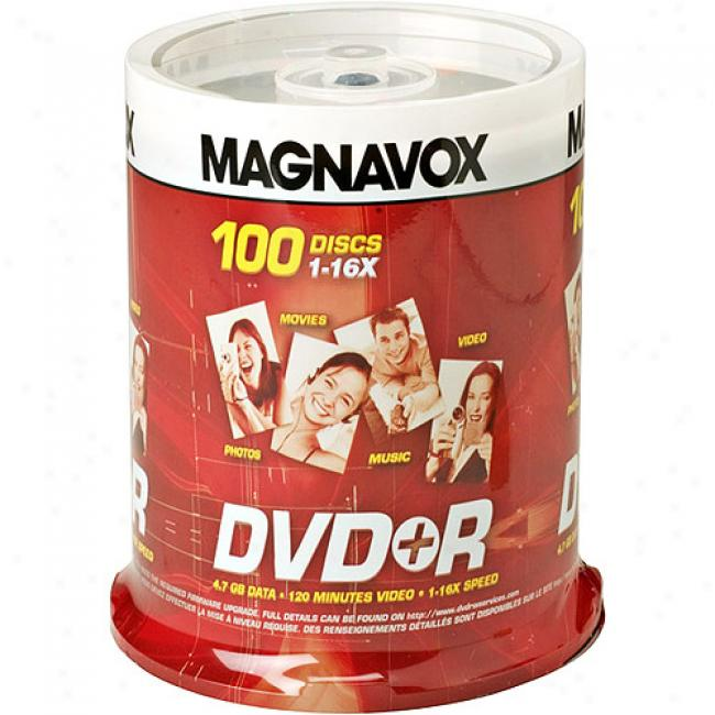 Magnavox 16x Write-once Dvd+r Axis - 100 Disc Spindle