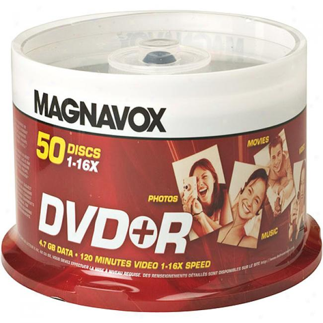 Magnavox 16x Write-once Dvd+r Spindle - 50 Disc Spinrle