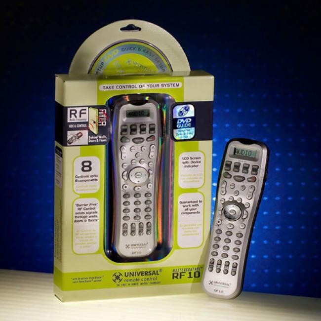 Mastercontrol Universal Remote Control, Rf10