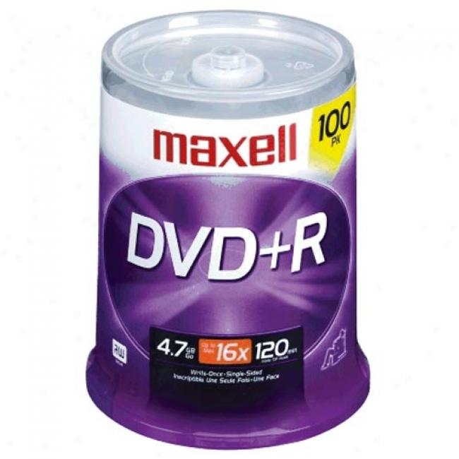 Maxell 100-pack 16x Dvd+r Spindle
