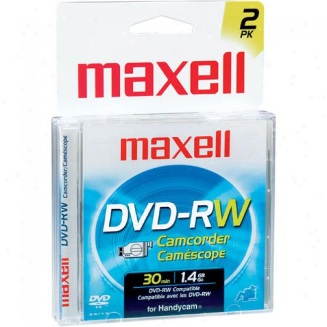 Maxell 30-min Rewritable Mini Dvd-rw Conducive to Dvd Camccorders, 2-pack