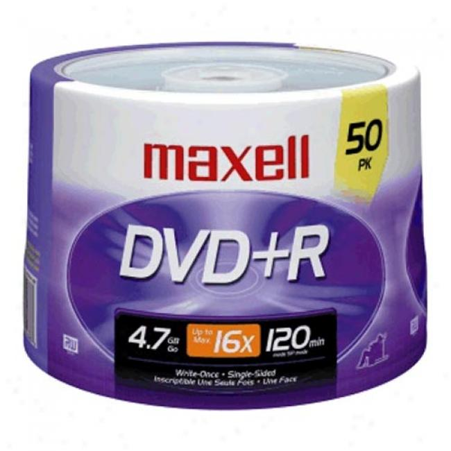 Maxell 50-pack 16x Dvd+r Spindle