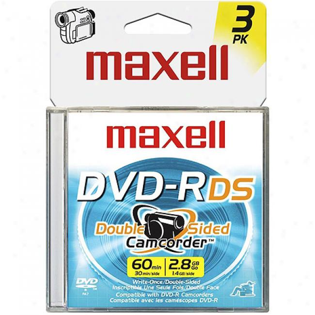 Maxell 8cm Write -once Dvd-r For Camcorders, 3 Pack