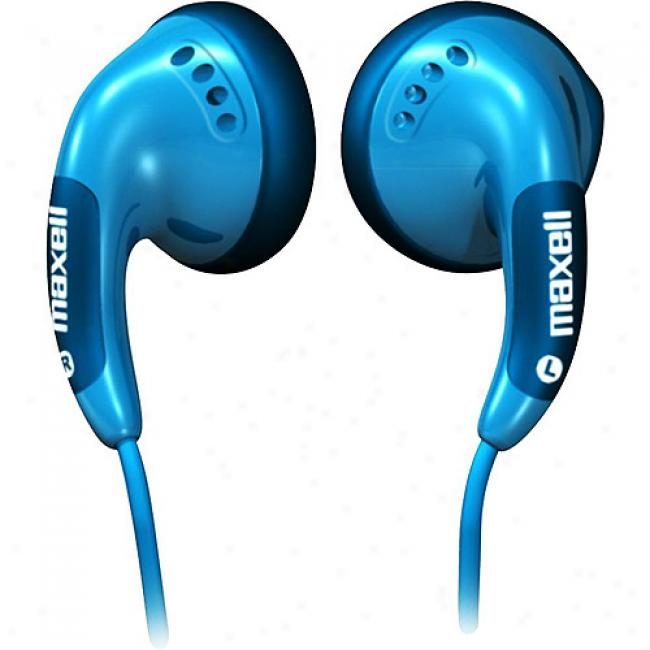 Maxell Color Buds Earbuds - Blue, Cb-blue
