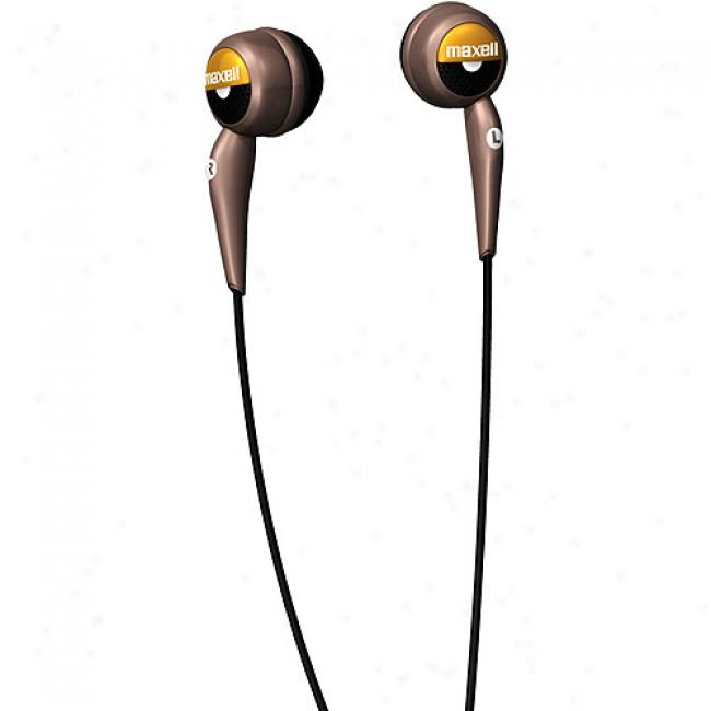 Maxell Deluxe Stereo Earbuds W/ Wind-up Case, Eb-225