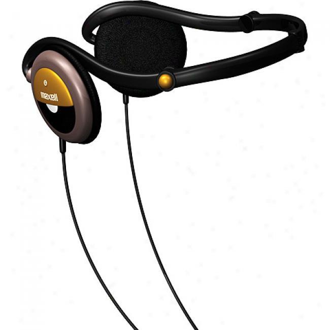 Maxell Deluxe Stereo Folding Neckband Headphones, Nb-303f