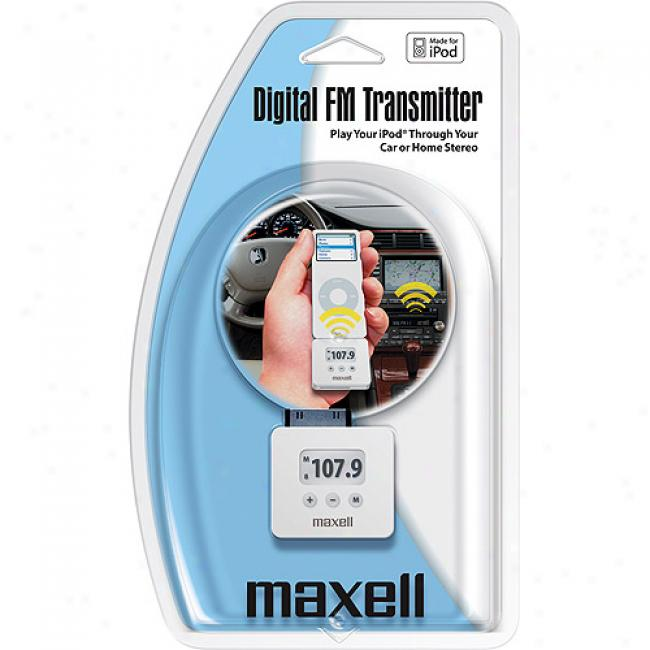 Maxell Digital Fm Transmitter For Ipod, P-4a