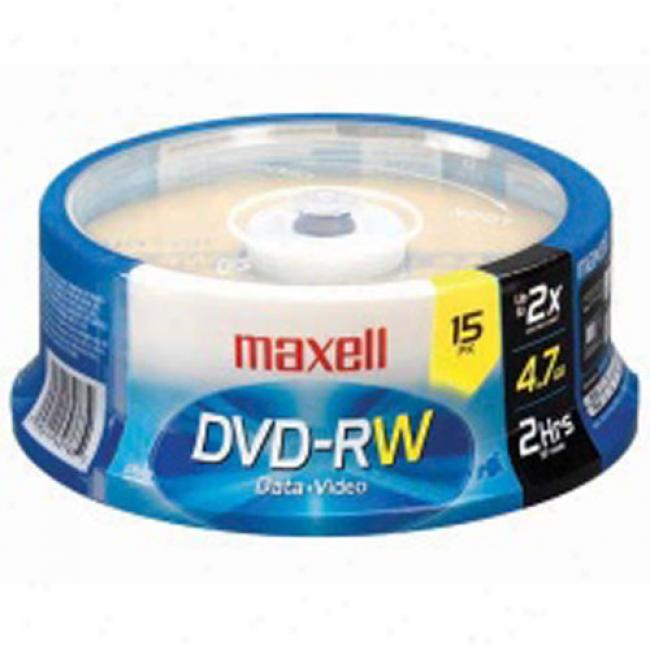 Maxell Dvd-rw Spindle, 15-pack