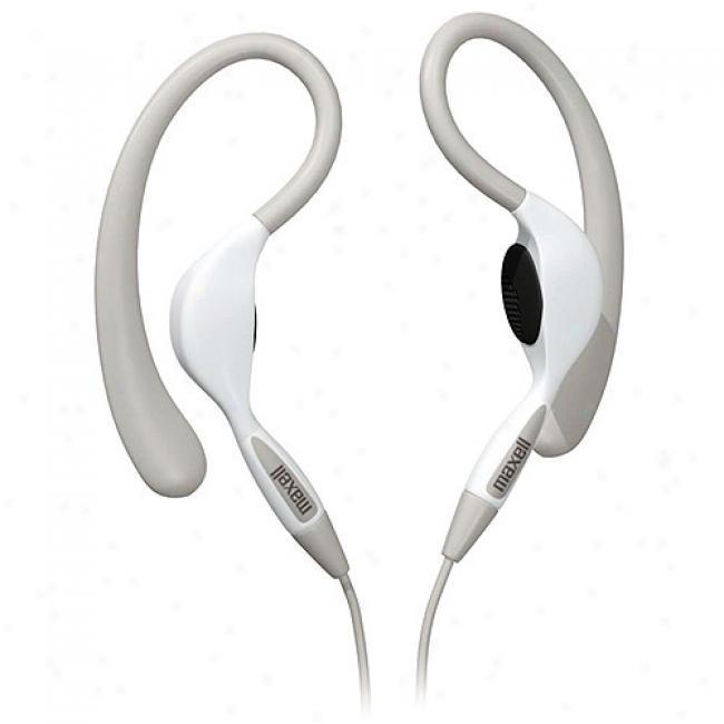 Maxell Ear Hooks Stereo Headphones - White