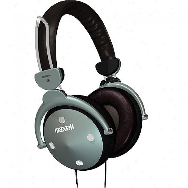 Maxell Full-sized Folding Headphones W/ In-line Volume Control, Hp-550
