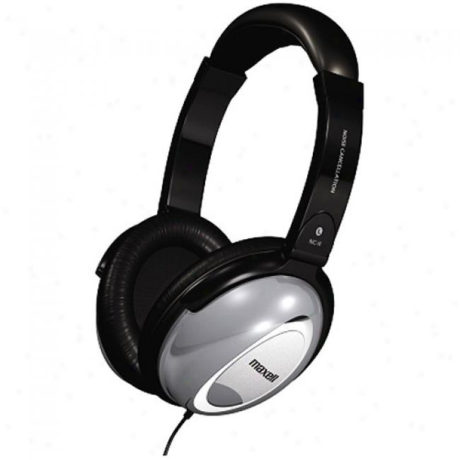 Maxell Full-sized Noise-cancceling Headphones, Hp/nc-ii