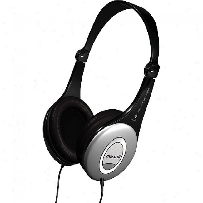 Maxell Lightweight Noise-canceling Headphones, Hp-nciii