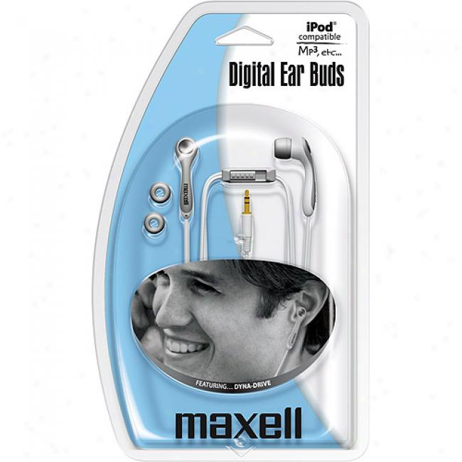 Maxell Stereo Earbuds W/ In-line Volume Control, P8