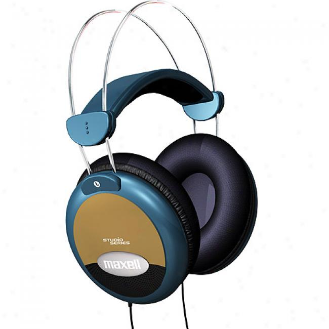 Maxell Studio Series Full-sized Headphones W/ Inl-ine Volume Control, Hp-2000