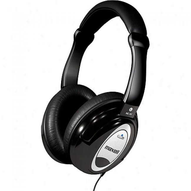 Maxell Superior Noise-canceling Stereo Headphones, Nc-ic