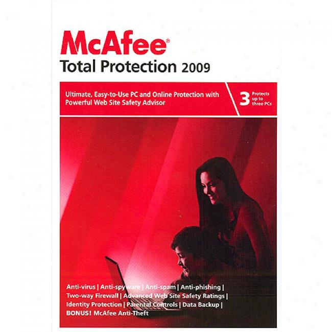 Mcafee Total Protection 2009 - 3 Users (pc)
