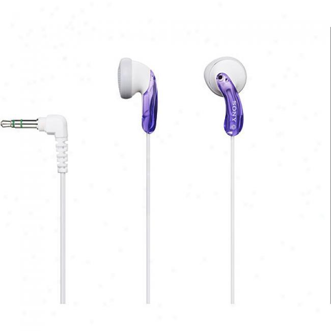 Mdr-e10lp/vlt Violet Fashion Earbud Headphones
