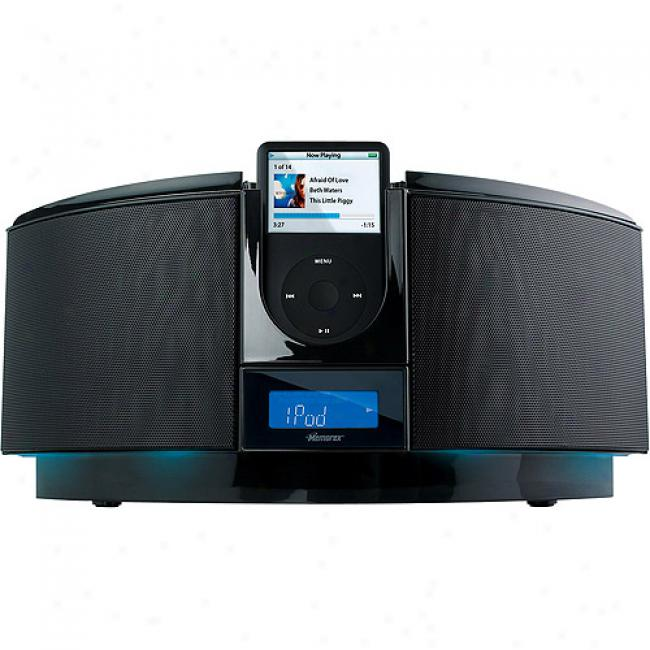 Memorex Black 2.1 Channel Home Chairman System For Ipod With Cd Player, Mi1111-blk