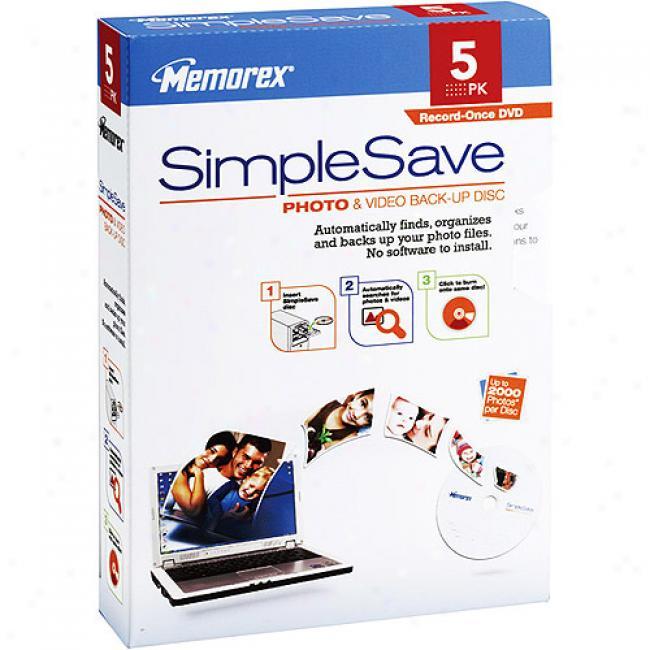 Memorex Simplesave Photo & Video Back-up Disc