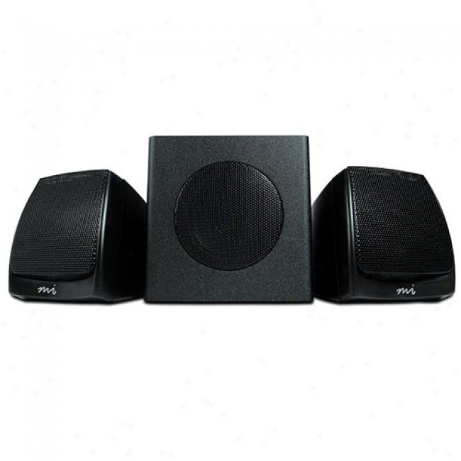 Micro Innovations 3-piece Multimedia Speaker System, Mm610d